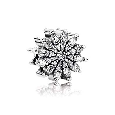 6b09c5750 Amazon.com: Pandora Ice Crystal Clear Cubic Zirconia Pendant Charm,  Sterling Silver 791764CZ: Jewelry