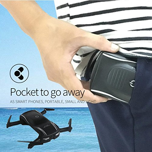 Leewa@ X185 2.4G 4CH Altitude Hold HD Camera WIFI FPV RC Quadcopter Foldable Pocket Drone Selfie by Leewa