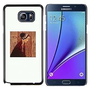 YiPhone /// Prima de resorte delgada de la cubierta del caso de Shell Armor - Pintura Clean vestido blanco profundo - Samsung Galaxy Note 5 5th N9200