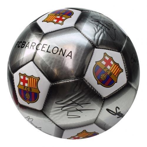 F.c. Barcelona Football Signature Silver (sv) Size 5