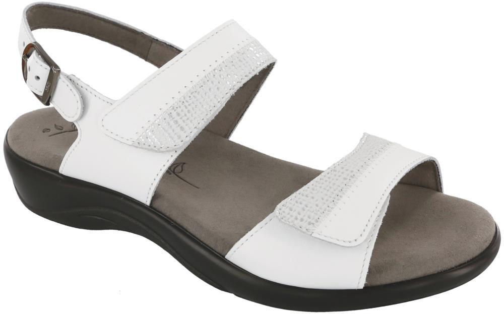 SAS Women's, Nudu Low Heel Sandals B01M9E6UXQ 5.5 M (M) (B) US|White