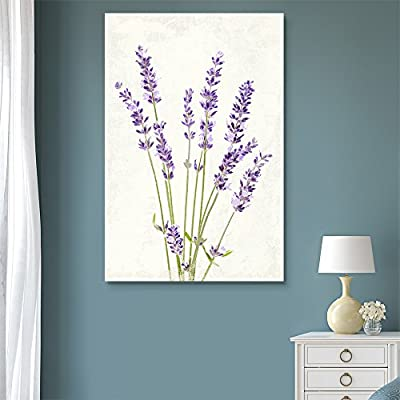 Vintage Style Purple Lavender Flowers on Grunge Background, Made For You, Elegant Piece of Art