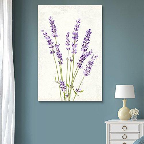 Vintage Style Purple Lavender Flowers on Grunge Background