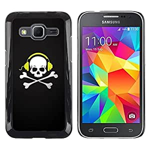 LASTONE PHONE CASE / Carcasa Funda Prima Delgada SLIM Casa Carcasa Funda Case Bandera Cover Armor Shell para Samsung Galaxy Core Prime SM-G360 / Skull Beat Bones