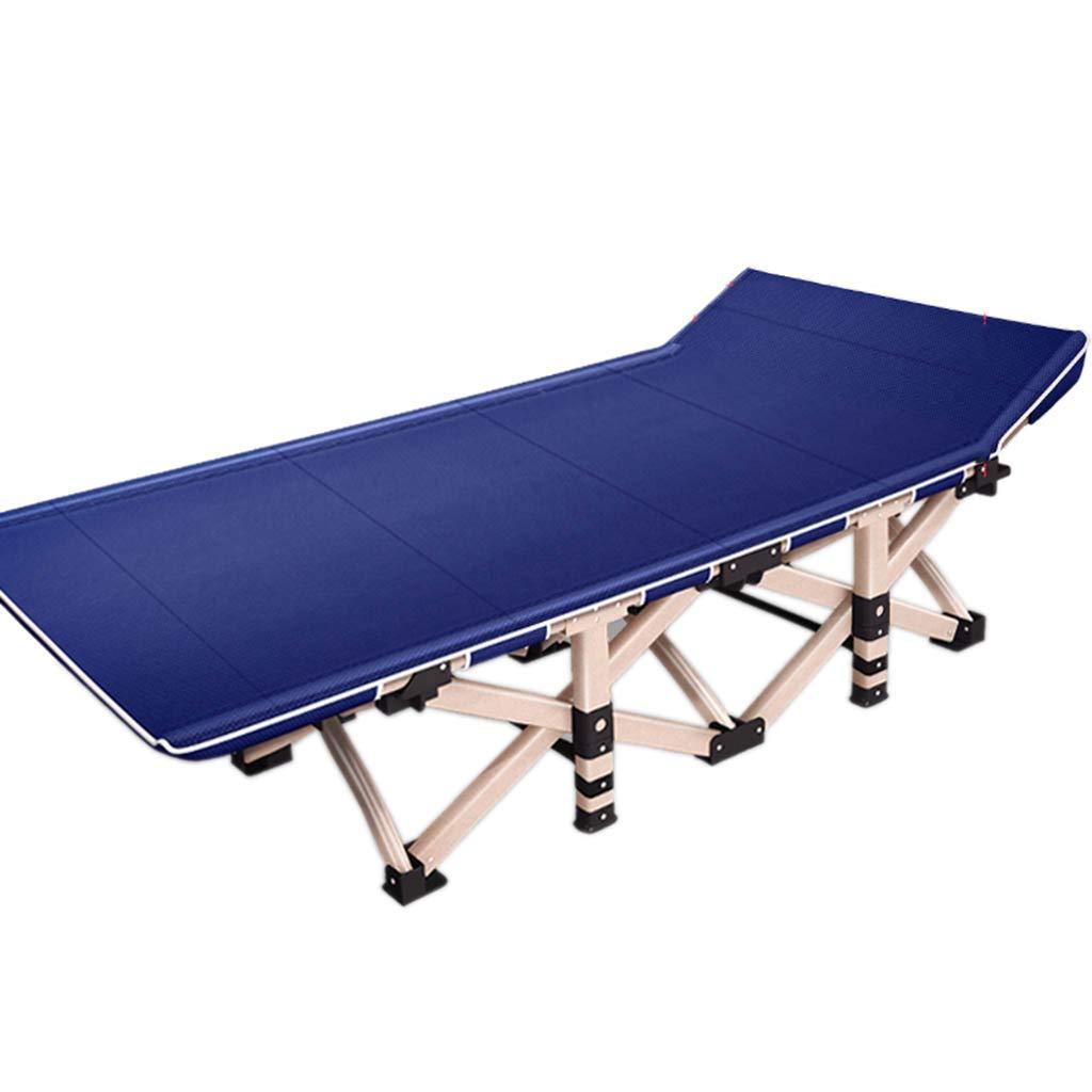 Lits de camp et hamacs Lit Pliant Lit Simple Lit Adulte Chaise Pliante Bureau Simple Inclinable Lit Pliant Camping Lit Plage en Plein Air Portable Camping Lit Color : Blue, Size : 190 * 75 * 36cm