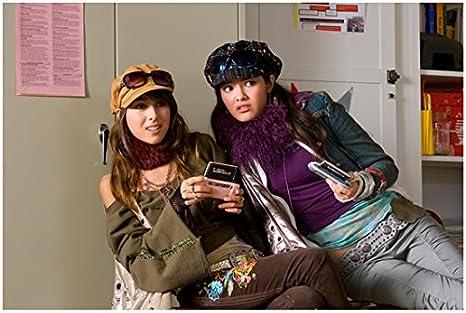 Nancy Drew Daniella Monet And Kelly Vitz In School Room Holding