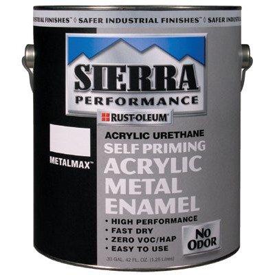 Rust-Oleum Sierra Perf. Metalmax 0 Voc Dtm Acrylic Enamel, Semi-Gloss Safety Yellow Gal Can - Lot of 2