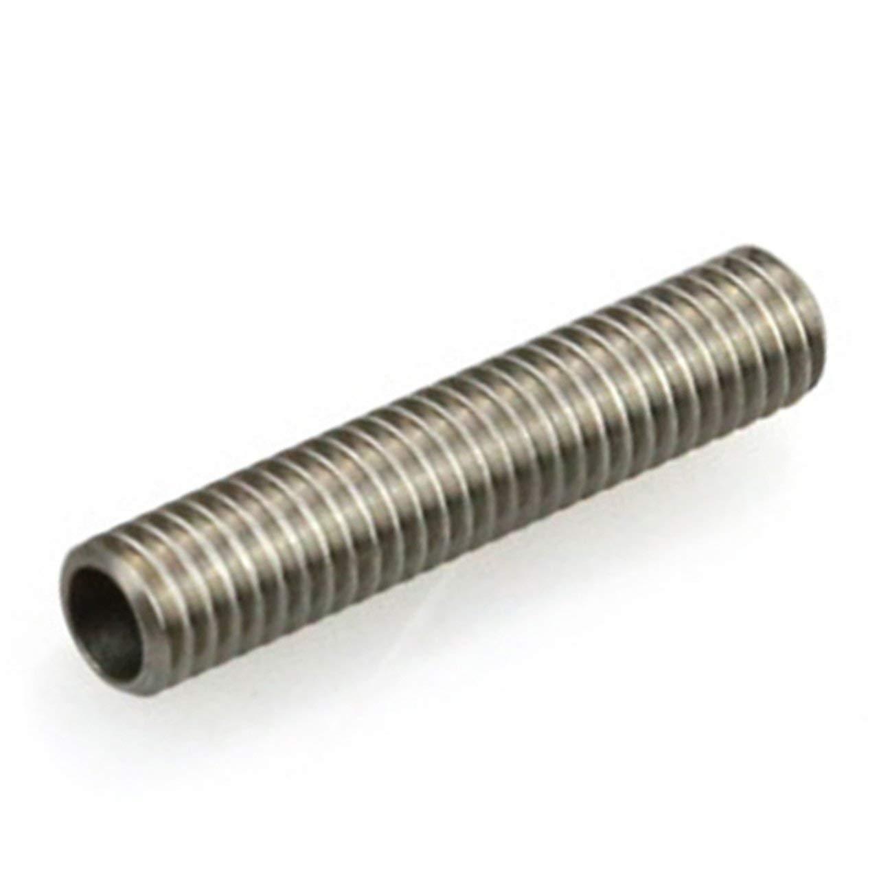 3D Printer Stainless Steel Tetrafluoro Thread Nozzles M6 Throat PTFE Tube for MK8 Tube Makerbot 3D Printer Extruder M6x30mm Jasnyfall silver