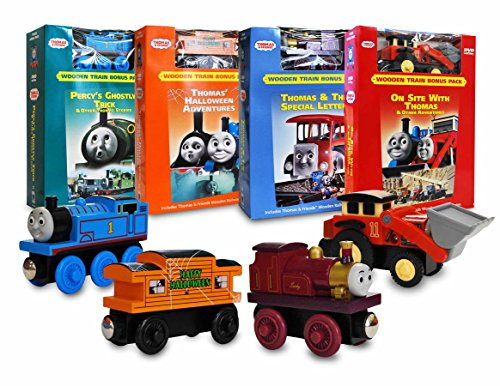 Thomas and Friends Movie & Train Set Collection # 1 (Percy's Ghostly Trick / Thomas' Halloween Adventures / Thomas & The Special Letter / On Site With Thomas)