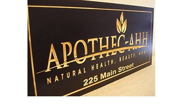 Amazon com: Adonis554Dan Business Name or Logo Printed Wood