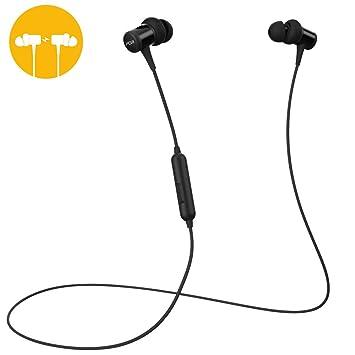 Auriculares Bluetooth PORTHOLIC Magnéticos In Ear Inalámbricos Deportes Auriculares Cascos Deportivos con Mic,Resistente al Agua IPX6,8 Horas de Tiempo de ...