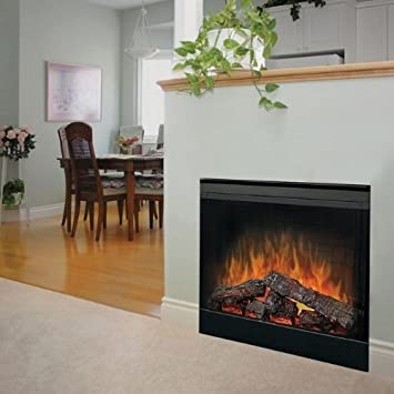 Buy 2-Sided Built-in Electric Fireplace with Bifold Glass Door and Trim: Home Décor - Amazon.com ? FREE DELIVERY possible on eligible purchases