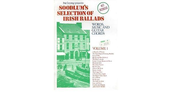 Soodlum\'s Selection of Irish Ballads : Words, Music & Guitar Chords ...