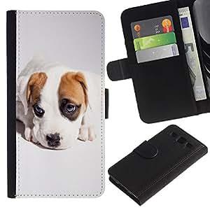 Be Good Phone Accessory // Caso del tirón Billetera de Cuero Titular de la tarjeta Carcasa Funda de Protección para Samsung Galaxy S3 III I9300 // Cute Cool Puppy Dog