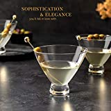 Stemless 10 Oz. Cocktail and Martini Glasses Set