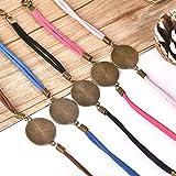 DROLE 40Pcs Bracelet Bezel Settings for Jewelry