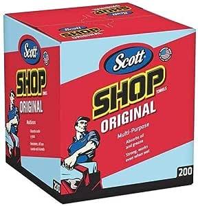 """Scott Kimberly-Clark 75190 Shop Towels, 10"""" x 12"""", Blue (1 Box of 200) (1 Box of 200 Towels (2 Boxes), Blue (2 Boxes))"""