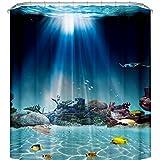 Creative Bath Rainbow Fish Shower Curtain