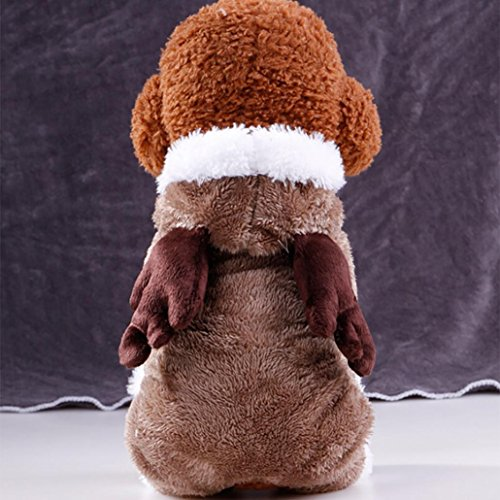 Plush Dog Coat (WensLTD Puppy Pet Dog Soft Plush Sweater Winter Warm Coat Apparel (S, Coffee))