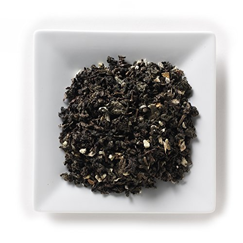 Mahamosa Ginger Orange Green Oolong Tea 2 oz - Loose Leaf Flavored Oolong Blend (with green oolong tea, ginger root, orange peel and ginger orange flavor) - Flavored Wulong Leaf Tea