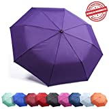 "Frostfire Kolumbo Travel Umbrella Proven ""Unbreakable"" Windproof Tested 55MPH Sturdy, Durability Tested 5000 Times - Compact, UltraSlim Windmaster Umbrella, Auto Open/Close"