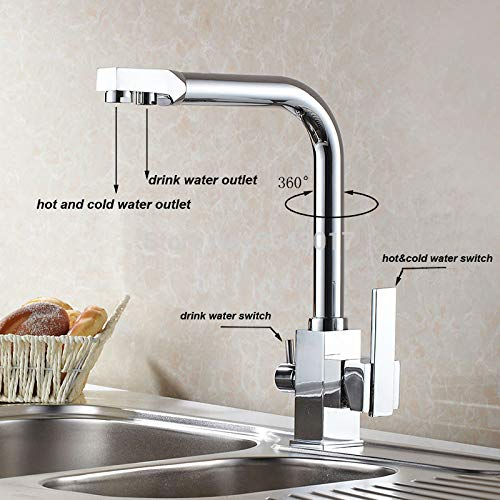 Hot Sale US Standard Drink Water Faucet Kitchen Swivel Hot and Cold Filter Water Faucet Luxury Chrome Finshed ZR646 by Tyrants Fauceting