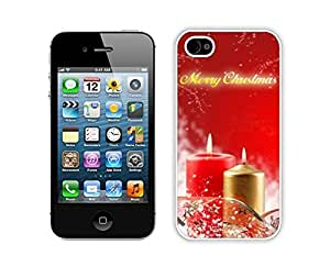 For Iphone 4/4S Case Cover Red Snowflakes Christmas Decoration Silicone Black For Iphone 4/4S Case Cover