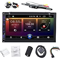 In Dash Car DVd Player with 7 Display, GPS Navigation Android 6.0 Double 2 DIN Car Stereo with Bluetooth, SD, USB, RDS Radio for Universal Car + Backup Camera