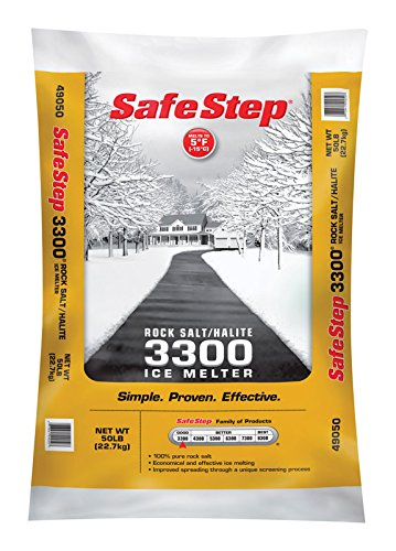 Safe Step Rock Salt Ice Melter Sodium Chloride (Rock Salt) Melts Ice Down To 5 F / -15 C 50 ()