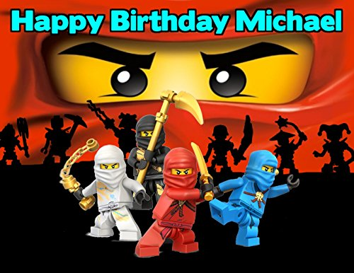 Ninjago Lego Ninja Edible Image Photo Cake Frosting Icing Topper Sheet Personalized Custom Customized Birthday Party - 1/4 Sheet - 79100