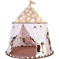 VGEBY1 Lektält, barn tält prinsessa slott lekhus stort inomhus utomhus tält för baby flickor gåva