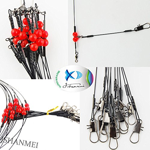 JSHANMEI-12pcslot-Stainless-Steel-Wire-Fishing-Leaders-with-Swivels-Snaps-Beads-High-strength-Fishing-Wire-Rigs-Fishing-Trace-Lures-Steel-Wire-Leader-Spinner-Fishing-Line-Tackle