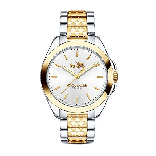 Coach Womens 14502180 Tristen Classic Signature Two Tone Watch