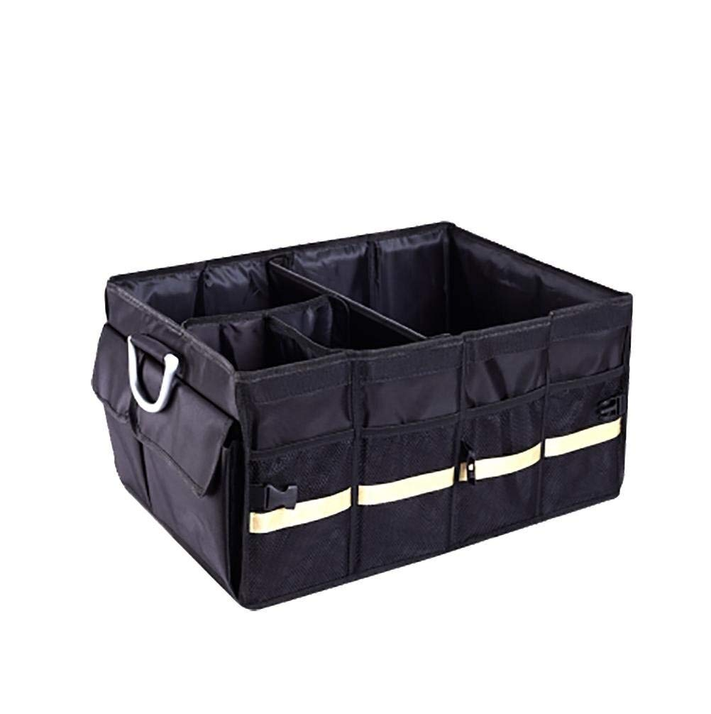 Arge capacity Foldable Car Trunk Cargo Storage Box Non-slip Waterproof Rear Seat With Handle Storage Container, Suitable For Truck / SUV Car / Truck, Children's Toy Storage Box Keep the seat clean