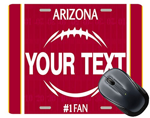 - BRGiftShop Customize Your Own Football Team Arizona Square Mouse Pad