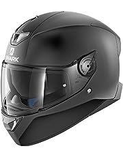 Shark SKWAL 2en blanco mate motocicleta cascos, negro, tamaño XL