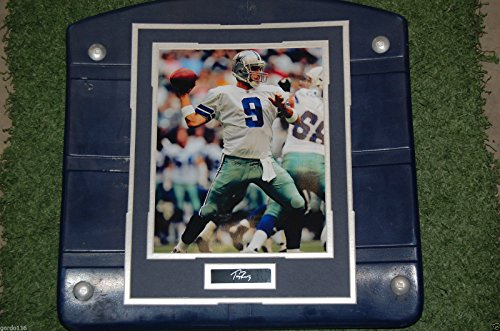 (Dallas Cowboys Texas Stadium Tony Romo Image Photo Seat Bottom Framed COA)