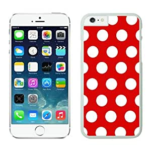 Iphone 6 Plus Case 5.5 Inches, Polka Red and White Dot Awesome White Phone Protective Speck Cover Case for Apple Iphone 6 Plus Accessories