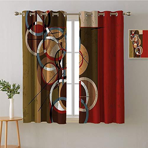 Door Panel Retainer Box - ScottDecor Curtain Door Panel Grommets Window Darkening Curtains Woven Darkening Curtains Microfiber Darkening Curtains Drapes/Draperies(1 Pair, 42