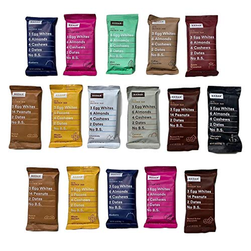 - RxBars Real Food Protein Bars, Variety pack (pack of 16)