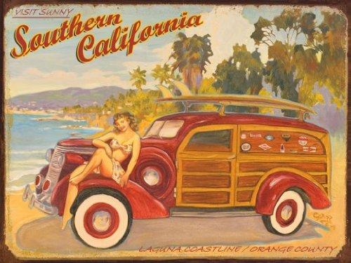 Laguna Coastline Metal Sign, Southern California Orange County