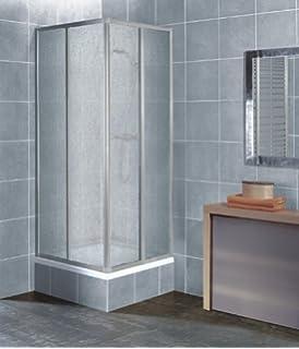 Duschakbine Eckeinstieg Acrylglas in weiß Größe 80 x 80 cm kürzbar ...