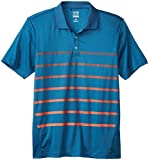 adidas Golf Men's Puremotion Climacool Gradient Stripe Polo, Midnight/Hi-Res Red, Medium