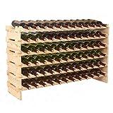 SUPER DEAL Wood 72 Bottles Modular Wine Rack Stackable Storage 6 Tier Display Shelves Cellar Shelf (#1)