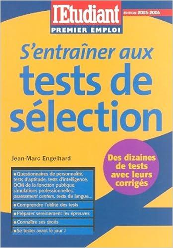 Lire un S'entraîner aux tests de sélection pdf, epub