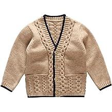 Coodebear Baby Boys' V Collar Cashmere Pocket Knitting Cardigan Winter Sweater