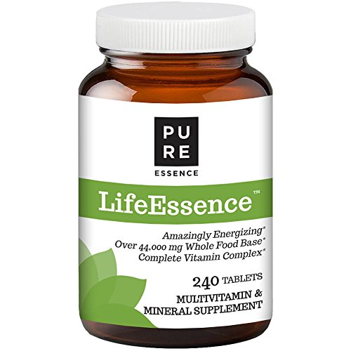 Pure Essence Labs LifeEssence Multivitamin for Women and Men - Natural Herbal Supplement with Vitamin D, D3, B12, Biotin - 240 Tablets ()