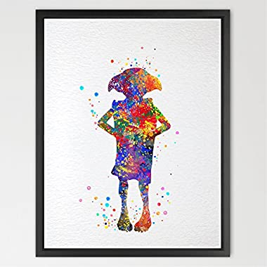 Dignovel Studios 11X14 Dobby Harry Potter Watercolor illustration Art Print Wall Art Poster Nursery Decor Print Wall Hanging Kids watercolor Art Birthday Gift N033