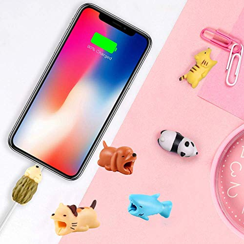EnjoCho Animal Cable Bite Protector for Iphone Cable Winder Panda Phone Holder Accessory Organizer Dog Cat Doll Toys (4PCS, J-2) by EnjoCho (Image #3)