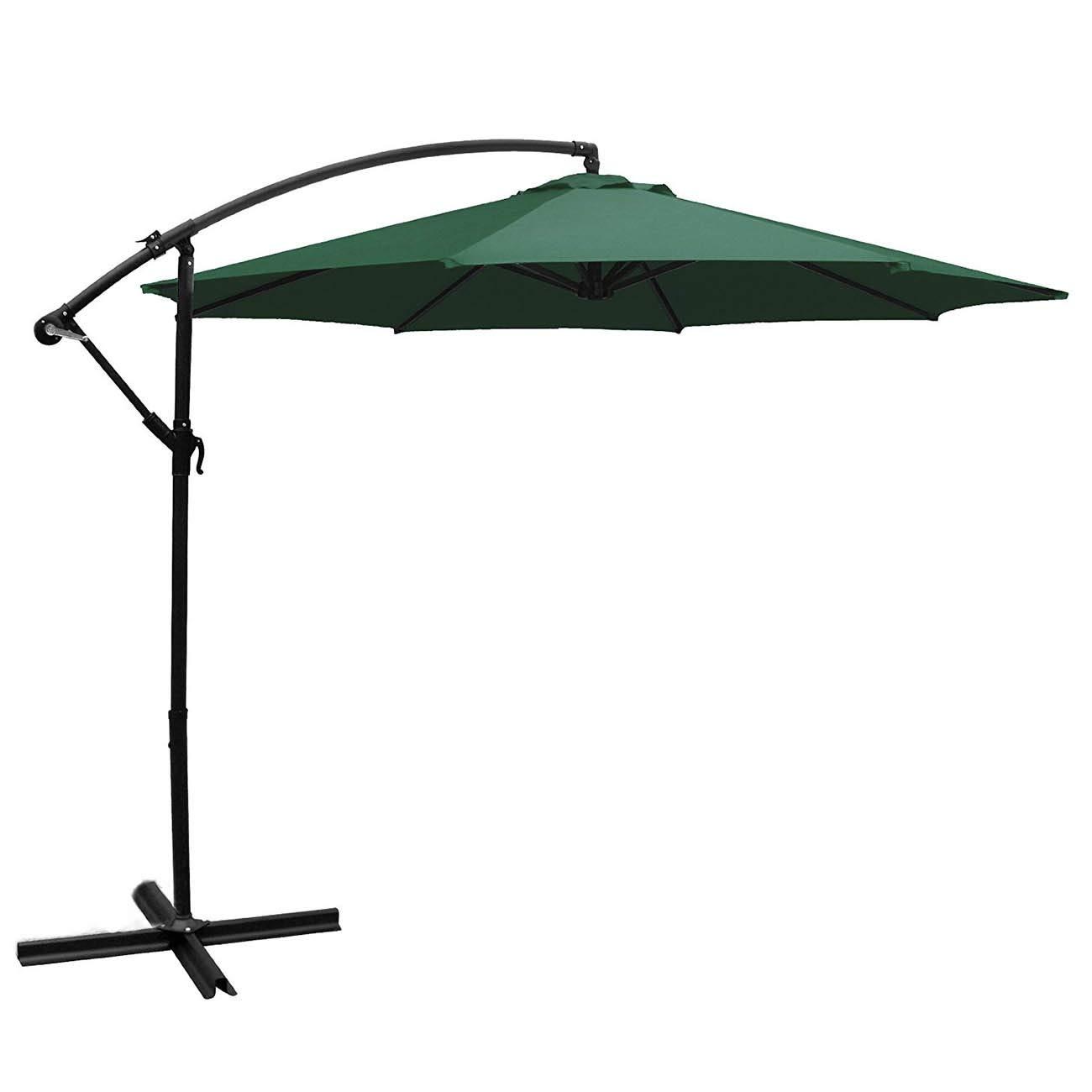 Amazon com : Belleze Patio Offset Cantilever Umbrella 10